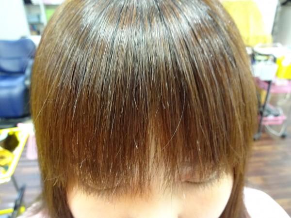 前髪のストレート(気になる部分だけストレート)